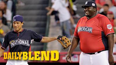 Mario Lopez Looks Like Danny Devito Next to Quinton Aaron in Celebrity Softball Game