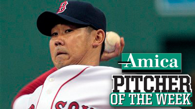 Daisuke Matsuzaka Grabs First Win Since June 7, Earns Amica Pitcher of the Week Honors