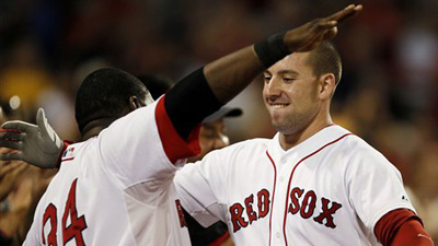 Red Sox Combination of Veterans and Rookies  Trumps Tampa Bay in Opener