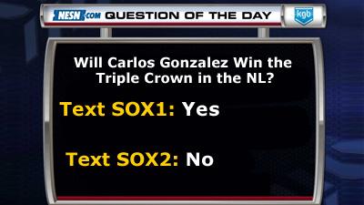 Will Carlos Gonzalez Win National League Triple Crown?