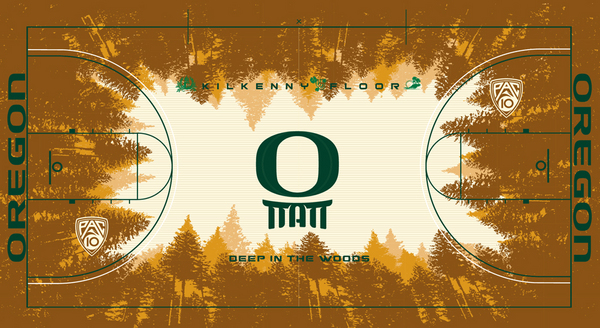 Oregon Athletic Department Takes Ridiculous Design Talents to New Basketball Court, Kilkenny Floor