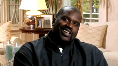 Shaquille O'Neal Leaves Wad of Big Red Gum Under Bench Before Every Game