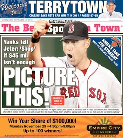Derek Jeter Looks Good as Red Sox Shortstop, According to New York Post Cover