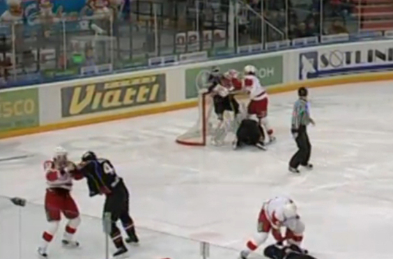 KHL's Avangard Ambushed by Vityaz in Brawl Seconds After Faceoff