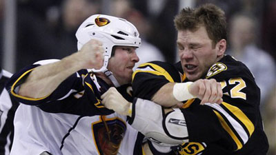 Shawn Thornton Lifts Bruins', Fans' Spirits With Explosive Effort Against Thrashers