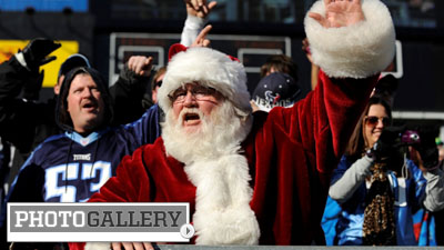 Fans, Cheerleaders Get Into the Holiday Spirit While Supporting Their Favorite Teams (Photos)