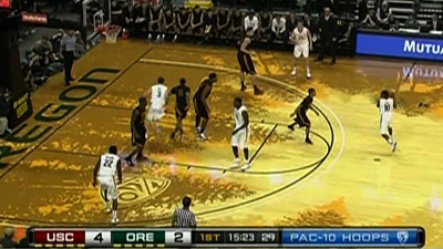Oregon's New Basketball Court Opens, Drawing Criticism From Viewers