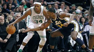 Kevin Garnett, Paul Pierce Boost Celtics to 110-86 Victory Over Jazz in Boston