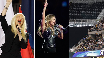 Biggest Super Bowl Disaster: Christina Aguilera Forgetting Lyrics to National Anthem, Black Eyed Peas' Halftime Show or Thousands of Fans' Losing Seats?