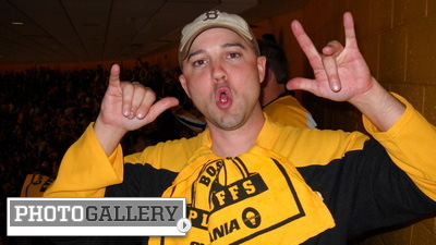 Bruins Fans Show Their Black and Gold, Superstitions and Faith