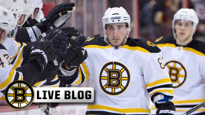Bruins Live Blog: Milan Lucic Scores Pair, Tim Thomas Comes Up Huge in Net As B's Cool Off Flames with 3-1 Win in Calgary