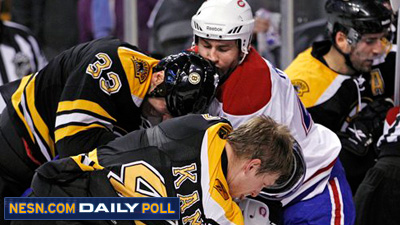 Vote: How Many Penalty Minutes Will There Be in Thursday?s Bruins-Canadiens Game?