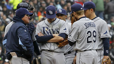 Johnny Damon Holds 'Players-Only' Meeting After Rays' Sixth Straight Loss