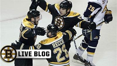 Mark Recchi Tips in Winner in OT As Bruins Edge Sabres 3-2 at Garden