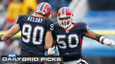 Max Lane's Pick of Bills Gives Him Lead in 'NESN Daily' Grid Picks Standings