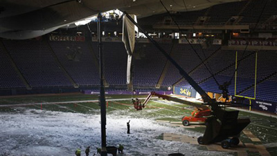 Metrodome Roof Won't Be Repaired in Time for Monday Night, Vikings-Bears to Play at TCF Bank Stadium