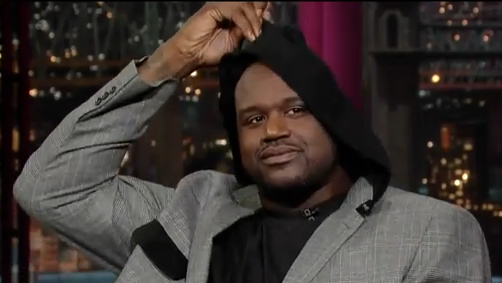 Shaquille O'Neal Wishes LeBron James Well, Rocks Hooded Sport Coat on 'Late Show With David Letterman'