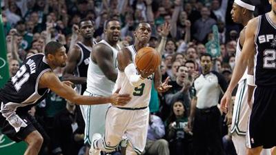 Paul Pierce's Last-Second Block Lifts Celtics Over Spurs in Potential NBA Finals Preview