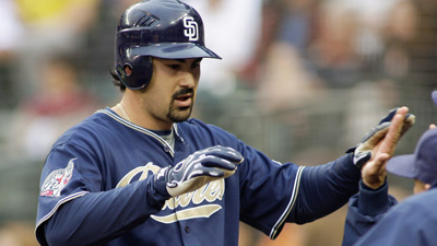 Red Sox Fans Christen Adrian Gonzalez 'Gonzilla' to Open His Playing Career in Boston