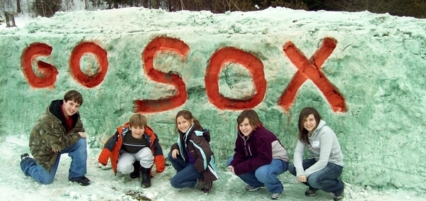Red Sox Fans From Vermont Use Snow Storms to Replicate Green Monster and Honor Favorite Team