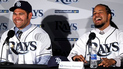 Johnny Damon and Manny Ramirez Provide Laughs and Experience for Depleted Rays Offense