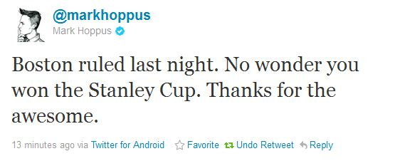 Blink 182's Mark Hoppus Says 'Boston Ruled ... No Wonder You Won the Stanley Cup'