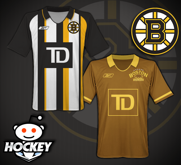 Bruins Among NHL Teams Featured in Gallery of Hockey-Themed Soccer Jersey Designs (Photo)