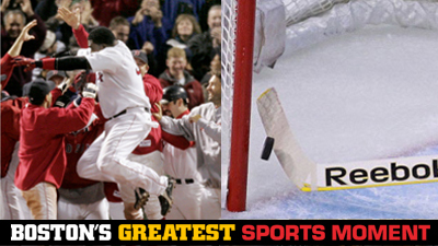 Is David Ortiz's Game 4 Walk-Off or Tim Thomas' Stick Save on Steve Downie a Bigger Boston Sports Moment?