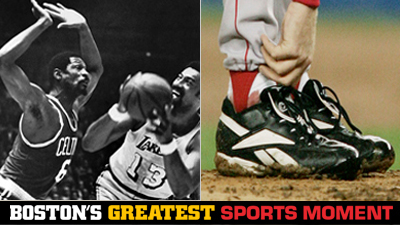 Is Bill Russell Leading Celtics to 1969 Title or Curt Schilling's Bloody Sock Performance a Bigger Boston Sports Moment?
