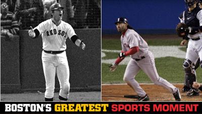 Is Carlton Fisk Waving World Series Home Run Fair or Johnny Damon's '04 ALCS Grand Slam a Bigger Boston Sports Moment?