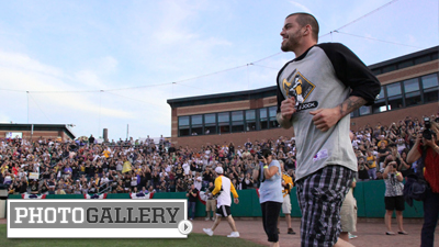 Milan Lucic's Charity Softball Event Brings Bruins Together in Lowell (Photos)