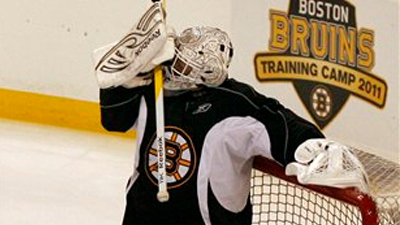Tim Thomas Proves His Competitive Nature Never Wanes During Bruins' Monday Scrimmage