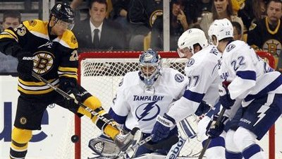 Bruins Defeat Lightning 4-1, Pick Up First Win of Season Behind Two-Goal Effort From Rich Peverley