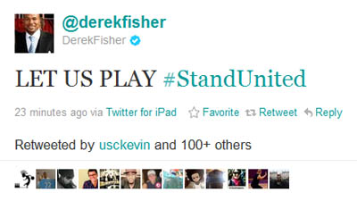 NBA Players Association President Derek Fisher Urges Owners to End Lockout With 'Let Us Play' Twitter Campaign