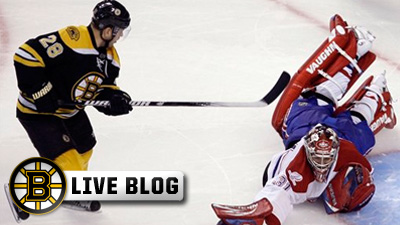 Bruins Live Blog: Habs Take Game 1 with 2-0 Victory at Garden