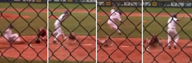 Mississippi High School Baseball Player Caleb Walker Scores on Unbelievable Slide at Home Plate