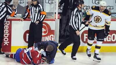 Milan Lucic's Ejection Bogus, As Referees Simply Get It Wrong After Hit on Jaroslav Spacek