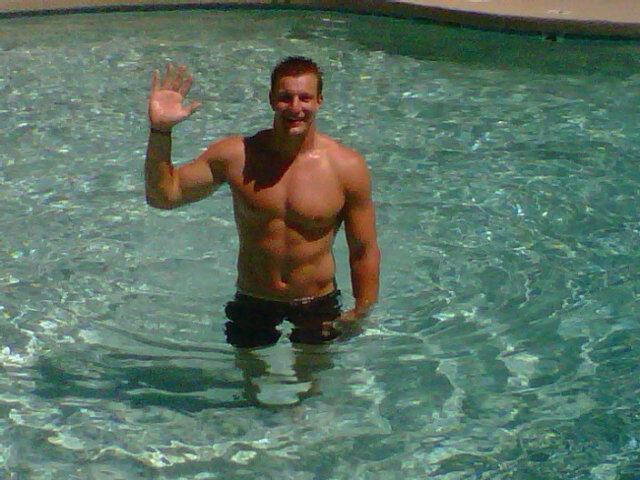 Rob Gronkowski Uses Lockout Free Time to Party Poolside at Alma Mater, University of Arizona