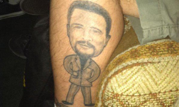 Fan Tattoos Image of ESPN's Jim Rome on Calf (Photo)