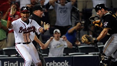 Julio Lugo Scores Game-Winning Run in 19th Inning on Terrible Blown Call By Umpire Jerry Meals