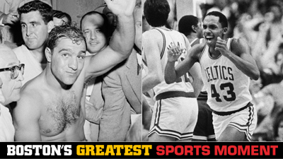 Is Rocky Marciano's 49-0 Record or Gerald Henderson's Steal in the 1984 NBA Finals a Bigger Boston Sports Moment?