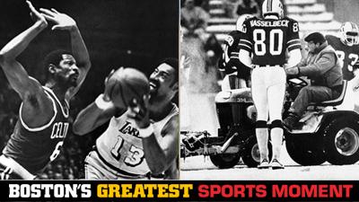 Is Bill Russell Leading Celtics to 1969 Title or Patriots''Snowplow Game' a Bigger Boston Sports Moment?