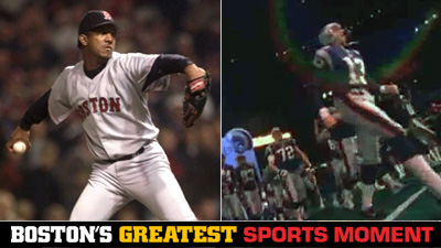 Is Pedro Martinez's 1999 ALDS Game 5 Performance or Patriots' Team Introduction at Super Bowl XXXVI a Bigger Boston Sports Moment?