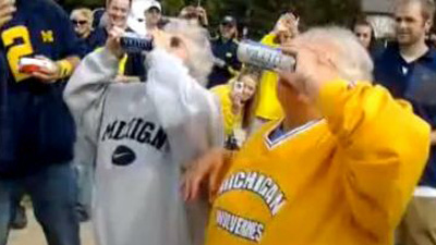 Drunk Grannies Go Viral After Shotgunning Beers at Michigan Football Tailgate (Video)