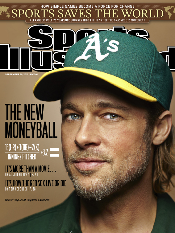 Brad Pitt Featured on Sports Illustrated Cover, Admits 'Shameful' Lack of Baseball Knowledge (Photo)