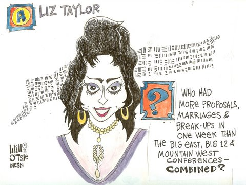 Boise State, Kim Kardashian Have Nothing on Elizabeth Taylor in Proposal, Marriage and Breakup Department
