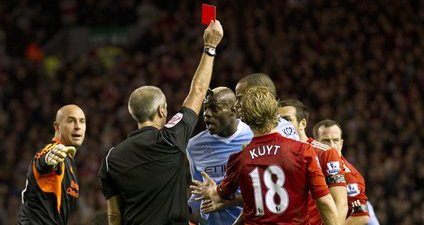 Vote: Did Mario Balotelli Deserve to Be Sent Off in Sunday's Liverpool-Manchester City Game?
