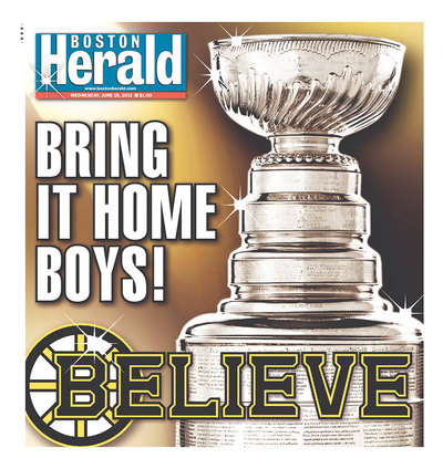 Front Pages of Major Newspapers in Boston, Vancouver Focus on Game 7 of Stanley Cup Final (Pictures)