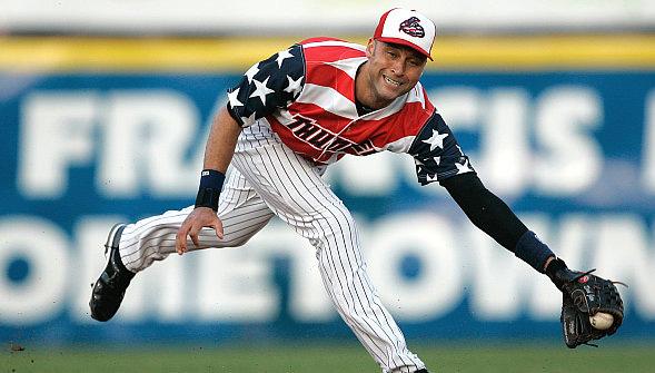 Derek Jeter Wears Ugliest Uniform In Baseball History During Rehab With Trenton Thunder