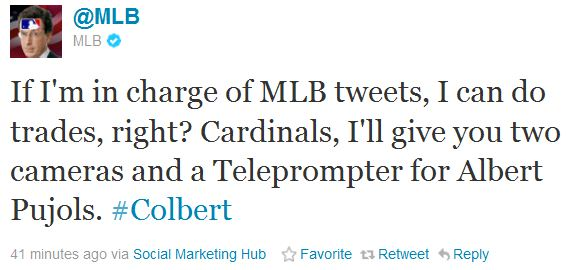 Stephen Colbert Takes Over MLB Twitter Feed for the Day